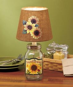 Country Mason Jar Lamps|The Lakeside Collection