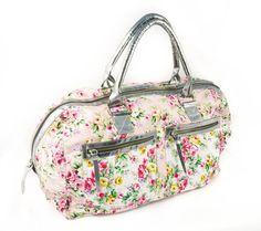Santiago Flower-cious weekender bag by shopharp on Etsy