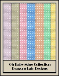 Oh Baby Mine Collection - Spotty 12 x 12 Papers