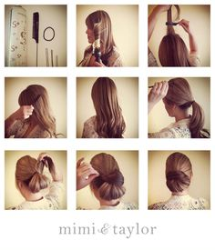 Hairstyles Job : Hair: A chigon is a professional look. Here is a step by step visual ...