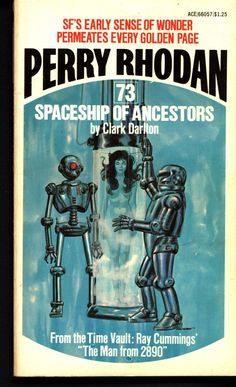 """Space Force Major PERRY RHODAN 73 Spaceship of Ancestors Science Fiction Space Opera Ace Books ATLAN M13 cluster New Lensman E E """"Doc"""" Smith"""