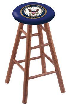U.S. Navy Extra-Tall Bar Stool RC36OSMEDNAVY  #gameroom #recroom #coolstuff#ExtraTallBarStool #CUSTOMMADE #UnitedStatesNavy