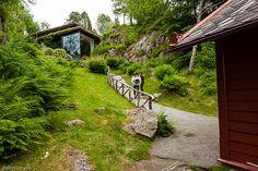 "Edvard Grieg's ""composing cabin"" and concert hall, Troldhaugen, Bergen Norway"