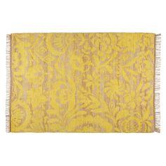 Tapis en jute et coton jaune moutarde 140x200cm   Maisons du Monde 14ef853a0fb