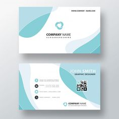 Blue wavy abstract business card Free Ps... | Free Psd #Freepik #freepsd #business-card #business #abstract #card
