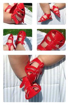Tutorial y patrones Sandalias de bebé - Cute Baby Sandals Pattern and Tutorial DIY