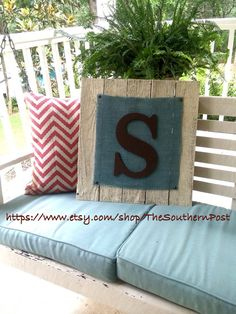 Reclaimed wooden S monogram by TheSouthernPost on Etsy Rustic, Custom, Home Decor