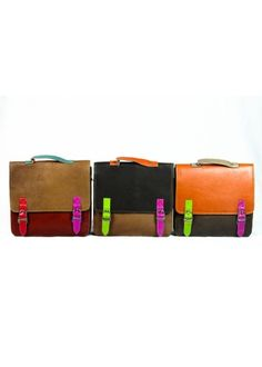 These fair trade bags are made from recycled and remnant leather pieces. They  have less impact on the environment, reduce waste and help create sustainable work in the developing world.