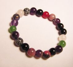 Random Rainbow  Gemstone Chakra Bracelet by CherylsHealingGems and Click Here Creations $26.00
