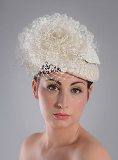 Magnificent millinery: Williams Hats uses lace from MYB Textilesfor some seriously chic head wear: