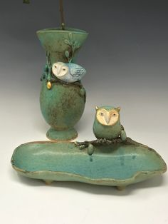 Ceramic Owl, Ceramics Ideas, Pots, Creations, Pottery, Inspire, Sculpture, Crafts, Color
