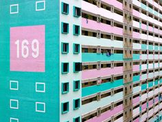 Photographer Peter Steinhauer captures the bright, cheerful hues of Singapore's massive apartment buildings.