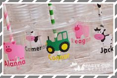 Farm Birthday Party Cups-Favor Cups-Souvenir by PartyCupMedley