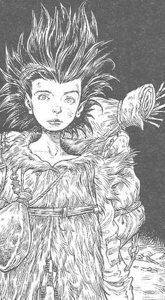 A Chris Riddell Illustration from The Edge Chronicles.