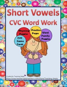 Puzzles, worksheets and a set of full color CVC word and picture cards are included in this product! This is great for those students that need repeated practice on the short vowel sounds to master them. Practice is presented in a variety of ways to help keep the interest level in learning and practicing the short vowel sounds and decoding CVC words.