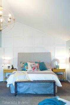 master bedroom 30 day makeover at tatertots and jello - thrifty ways to brighten up a bedroom