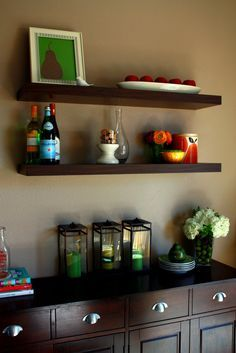 buffet with floating shelves - Google Search