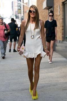 NY Fashion Week - ruffled hem LWD, Anna Dello Russo