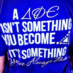 """a dphie isnt something you become, its something youve always been"""