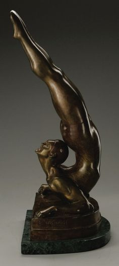 GASTON LACHAISE (French-born American 1882 - 1935).L'Acrobat, 1928,   Lot #24037   Heritage Auctions