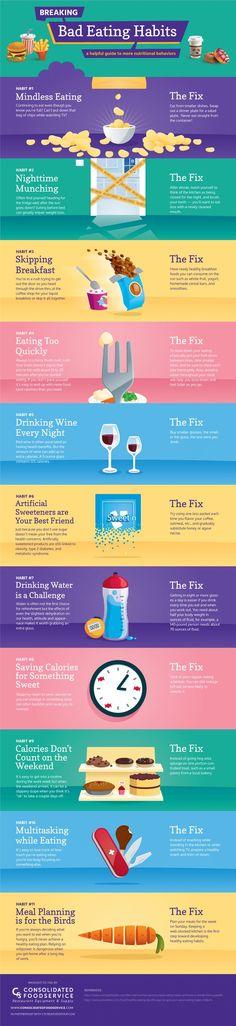 Breaking Bad Eating Habits #Infographic #Health
