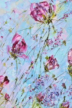 Marina Matkina. oil painting flowers