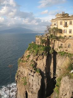 Mt. Vesuvius view in Sorrento, Italy