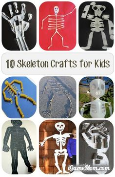 10 skeleton crafts for kids to learn about human body -- great activities for Halloween or anytime of the year, combining art and science, kids learn and have fun at the same time. | DIY project