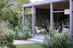 medium and large gardens - Studio TOOP Outdoor Rooms, Outdoor Living, Landscape Design, Garden Design, Seaside Garden, Farmhouse Landscaping, Garden Studio, Small Buildings, Terrace Garden