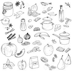 food line drawings