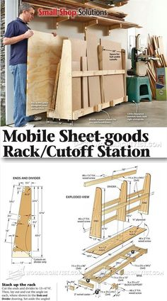 Sheet Storage Rack Plans - Workshop Solutions Projects, Tips and Tricks | WoodArchivist.com