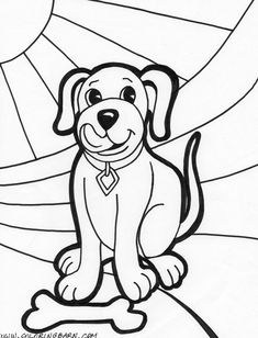 Image Detail For Puppy Dog Printable Coloring Pages