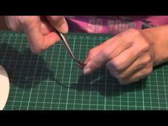 Цветы из кожи Как делать завивку лепестков - YouTube