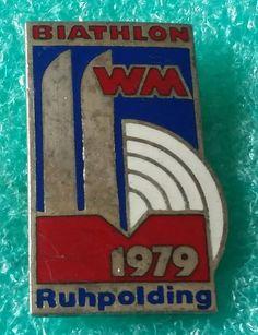 BIATHLON WORLD CHAMPIONSHIPS RUHPOLDING DEUTSCHLAND 1979 OLD PIN BADGE | eBay