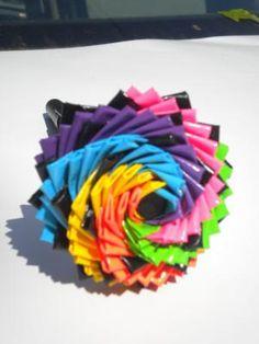 Custom Duct Tape Flower Pens