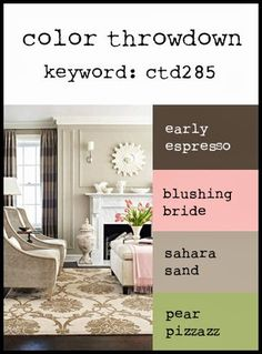 Color Throwdown: Color Throwdown #285 - chocolate, blush, kraft/desert sand, pear
