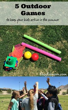 5 super simple and FUN games for kids to play outdoors this summer! This will keep the kids entertained for HOURS!