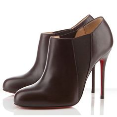 Christian Louboutin Ankle Boots Lastoto 100mm Cacao