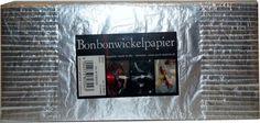 Bonbonwickelpapier Metallik Silber ca. Cover, How To Make, Candy, Paper, Blankets