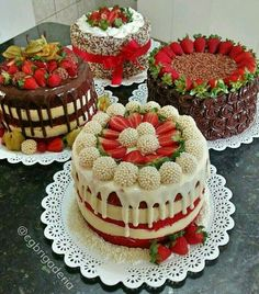 18 Ideas For Chocolate Cake Decoration Strawberry Food Pretty Cakes, Cute Cakes, Beautiful Cakes, Yummy Cakes, Amazing Cakes, Food Cakes, Cupcake Cakes, Sweets Cake, Super Torte