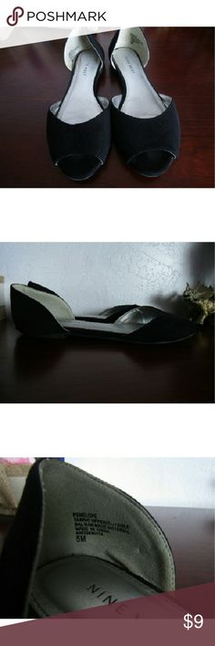 Nine West open toed flats Nine West open toed flats  ?in great condition  ?open to offers Nine West Shoes Flats & Loafers