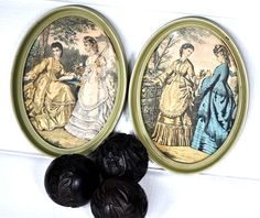 Oval Paris Vintage Prints Cottage Shabby Chic by TheVelvetBranch, $52.00