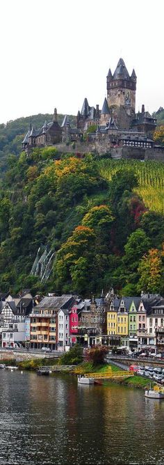 Cochem Castle from the Moselle Bridge, Rhineland-Palatinate, Germany Places Around The World, The Places Youll Go, Places To See, Around The Worlds, Beautiful Castles, Beautiful World, Wonderful Places, Beautiful Places, Amazing Places