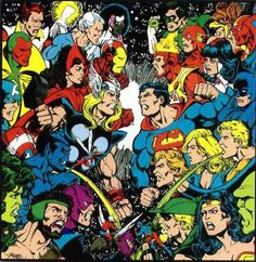 Justice League of America vs. The Mighty Avengers by George Perez