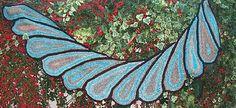 Teardrop Wingspan wrap pattern available on Ravelry