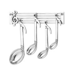 I'd make music in the kitchen with this Music Note Measuring Spoon Set