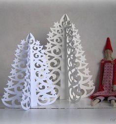 Gorgeous paper christmas trees easily  / Gyönyörű áttört hatású papír karácsonyfák (nyomtatható mintaívvel) / Mindy -  creative craft ideas