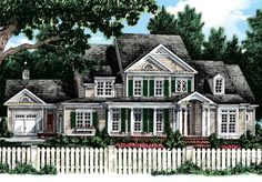 Baldwin Farm - Frank Betz Associates, Inc. | Southern Living House Plans  This one meets the 3 car garage test...