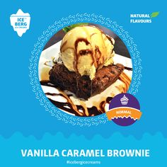 Flavor Ice, Caramel Brownies, Vanilla, Ice Cream, Desserts, Fun, Butterscotch Brownies, No Churn Ice Cream, Tailgate Desserts