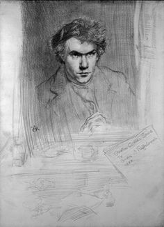 """Austin Osman Spare self-portrait drawing, 1909. From """"100 Self-Portrait Drawings from 1484 to Today"""""""